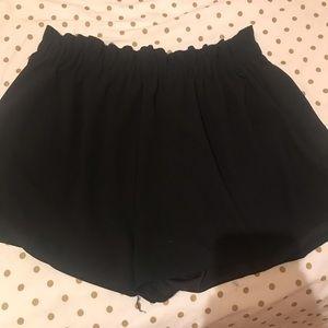 Plus size black stretchy shorts
